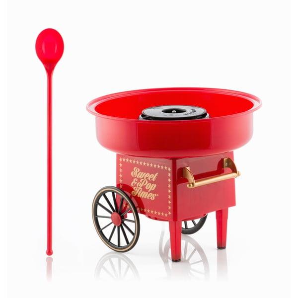 Czerwona maszyna do domowej produkcji waty cukrowej InnovaGoods Candyfloss Machine
