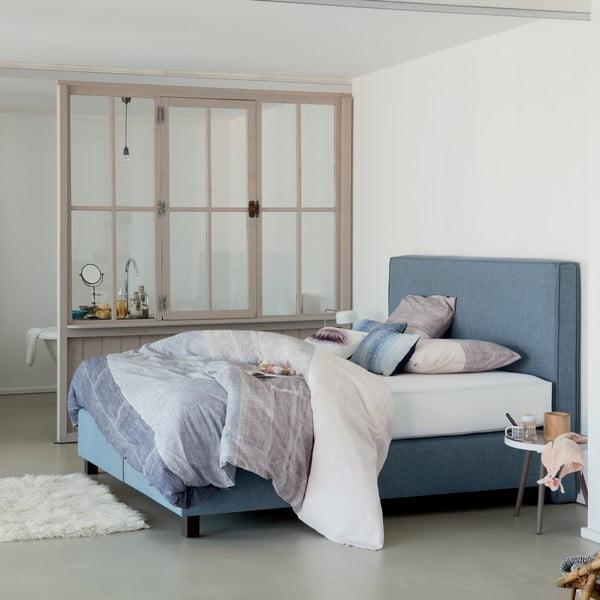 Modrá boxspring postel Revor Milano,140x200cm