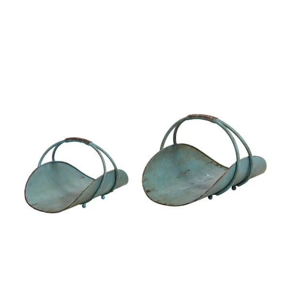 Úložné košíky Anique, zelená patina
