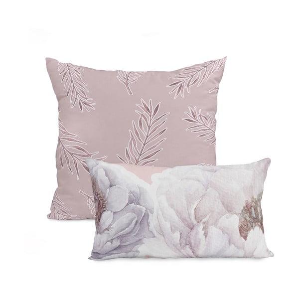 Zestaw 2 bawełnianych poszewek na poduszki Happy Friday Soft Bouquet