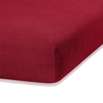 Cearceaf elastic AmeliaHome Ruby, 200 x 160-180 cm, roșu închis de la AmeliaHome