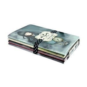 Sada 4 zápisníků Santoro London Gorjuss Scribbles