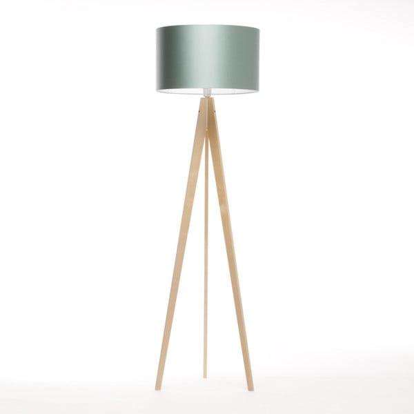 Ocelově modrá  stojací lampa 4room Artist, bříza, 150 cm