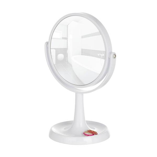 Bílé stojací zvětšovací zrcadlo Wenko Rosolina, výška 28cm