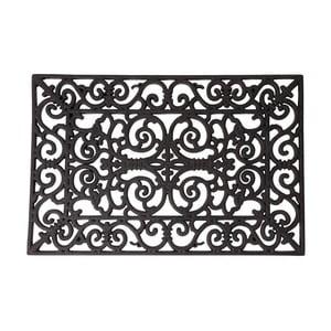Gumová obdélníková rohožka Esschert Design Ornamental, šířka 66,5cm