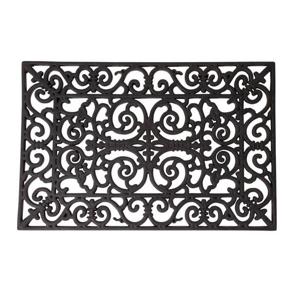 Gumová obdélníková rohožka Esschert Design Ornamental, 45x70cm