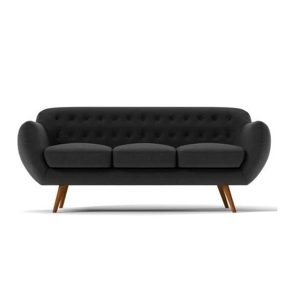 Sofa Indigo pro tři, tmavě šedé