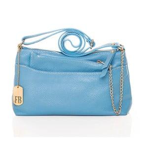 Modrá kožená kabelka Federica Bassi Dorado