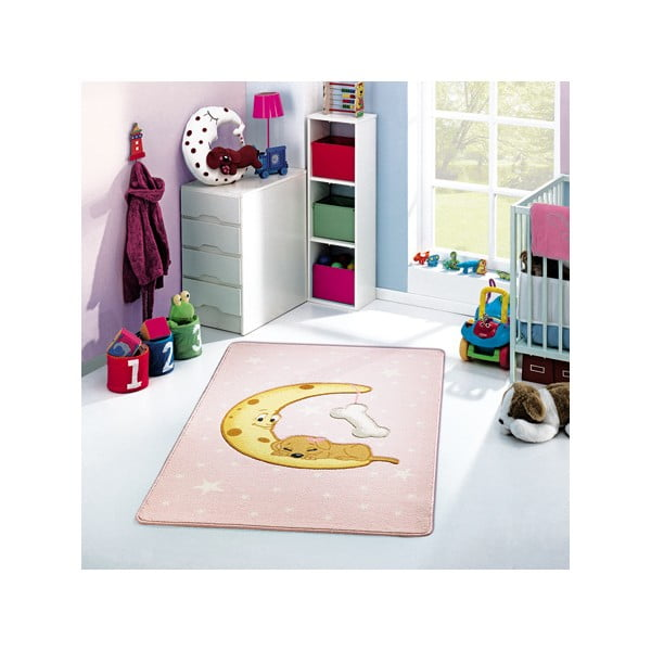 Dětský koberec Moon Pink, 133x190 cm