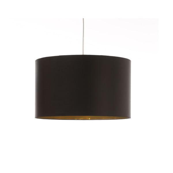 Černo-zlaté stropní světlo Artist, variabilní délka, Ø 42 cm