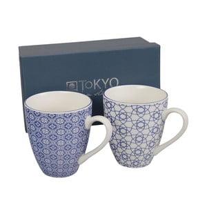 Set hrnků Nippon Blue Stripe & Flower, 2 ks