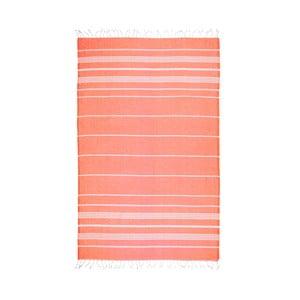 Prosop baie hammam Kate Louise Classic, 180 x 100 cm, portocaliu