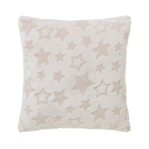 Polštář krémové barvy s motivem hvězdiček Unimasa, 45 x 45 cm