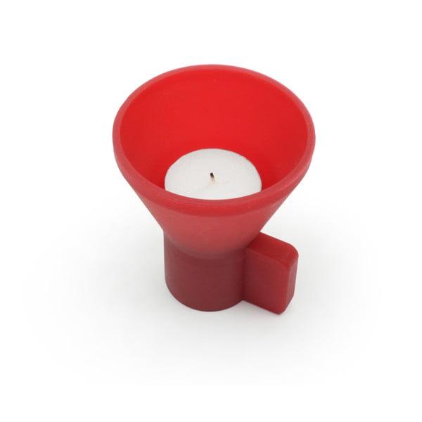 Stojan na svíčky Duo, červený