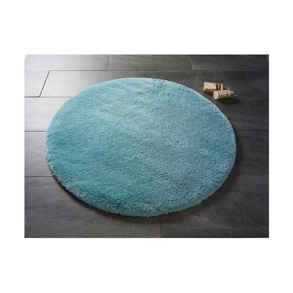 Světle modrá kulatá koupelnová předložka Confetti Miami, ⌀100 cm