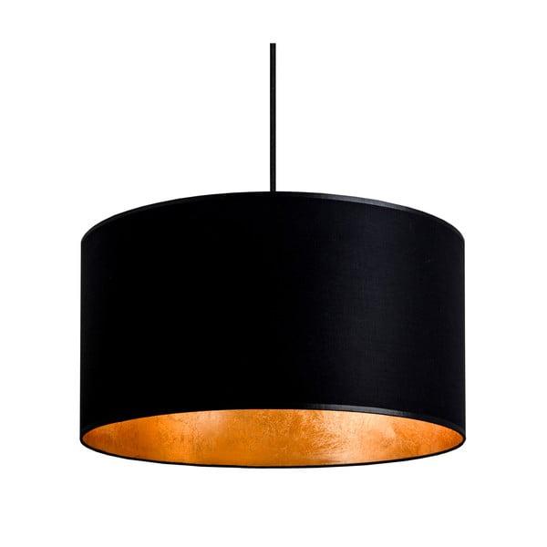 Stropní lampa Tres, černá/zlatá, průměr 36 cm
