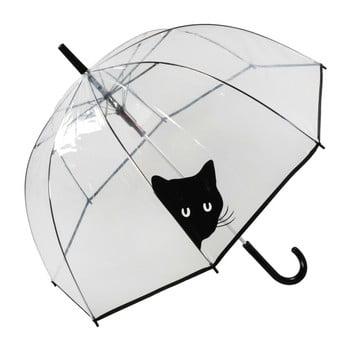 Umbrelă Birdcage Peeking Cat, 84 cm, transparent de la Ambiance