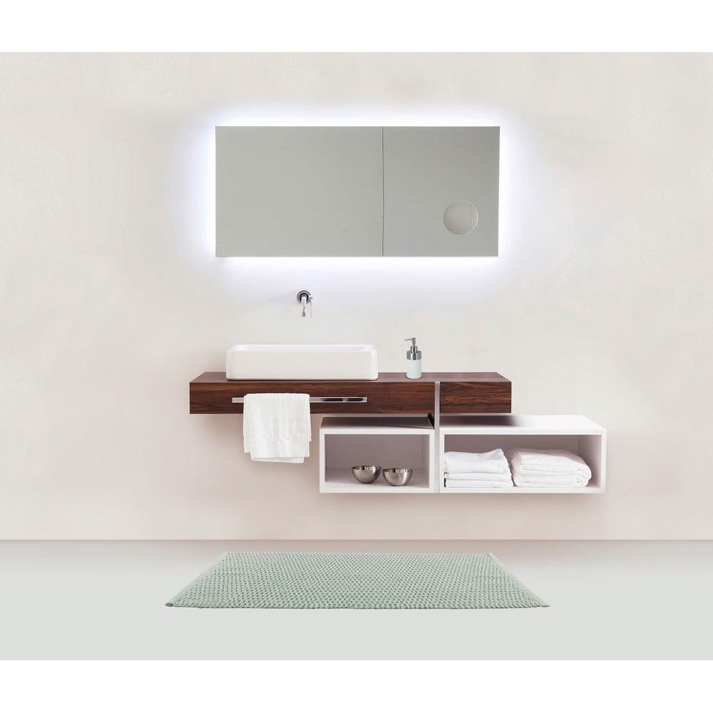 Produktové foto Světle zelená koupelnová předložka Wenko Mona, 80x50cm