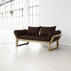 Sofa Edge choco/natural