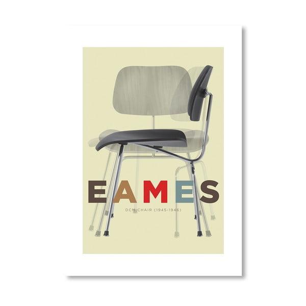 Autorský plakát Eames DCM Chair