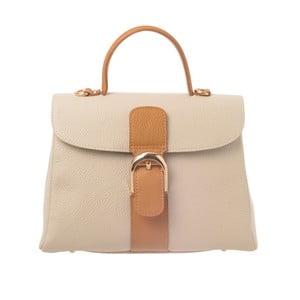 Béžová kožená kabelka Tina Panicucci Shool Honey