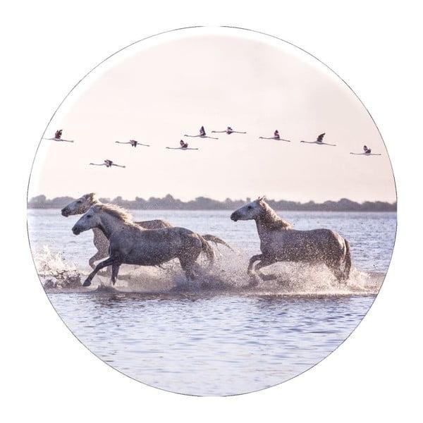Nástěnná dekorace Styler Ring Horses, ø70cm