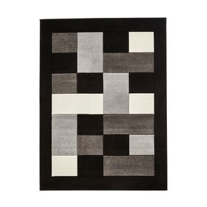 Šedočerný koberec Think Rugs Matrix, 60x120cm