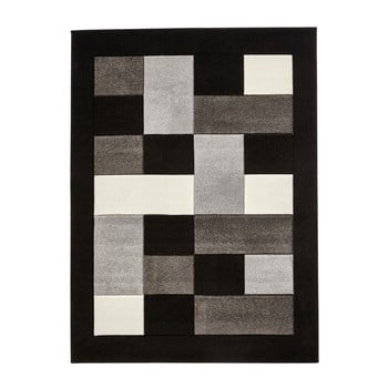 Covor Think Rugs Matrix, 80 X 150 Cm, Gri - Negru