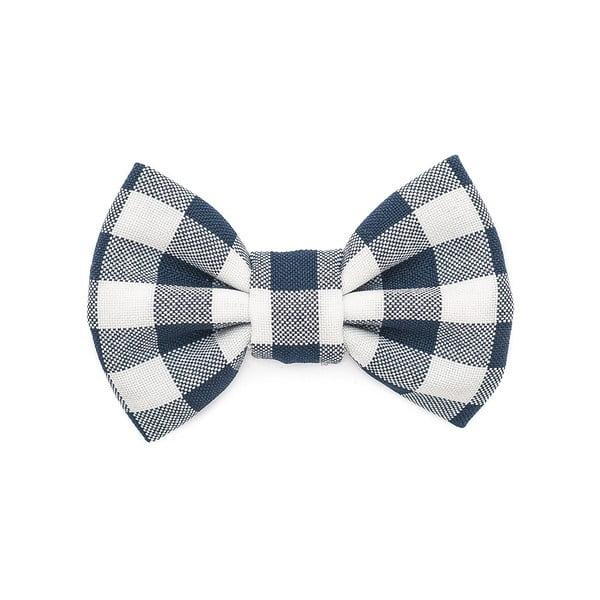 Modrý károvaný charitativní psí motýlek Funky Dog Bow Ties, vel. L