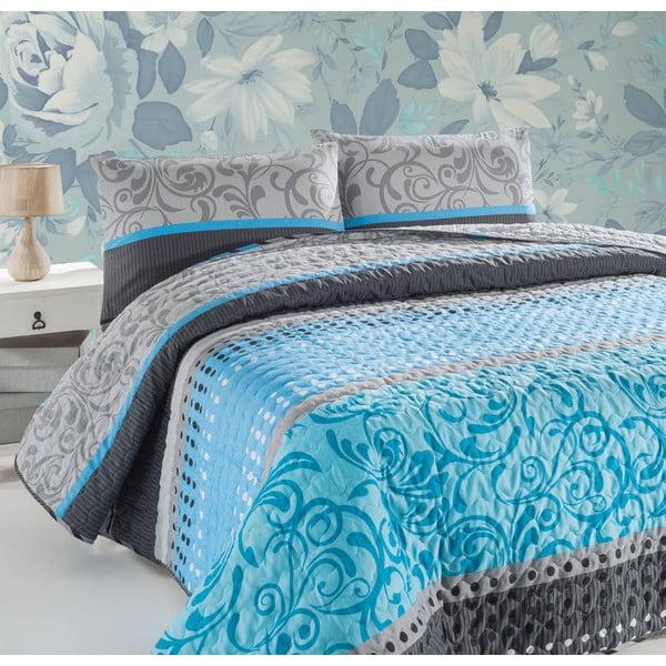 Pikowana lekka narzuta z poszewkami na poduszki Wayne, 200x220 cm