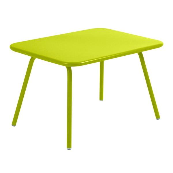 Limetkově zelený dětský stůl Fermob Luxembourg