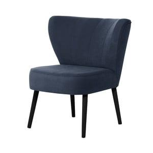 Tmavě modré křeslo s černými nohami My Pop Design Hamilton
