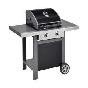 Černý plynový gril se 2 samostatně ovladatelnými hořáky a teploměrem Jamie Oliver BBQ