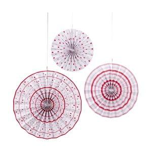 Papírové závěsné dekorace Pinwheel, 3 kusy