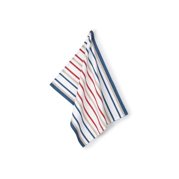 Utěrka Frida, červeno-modré pruhy