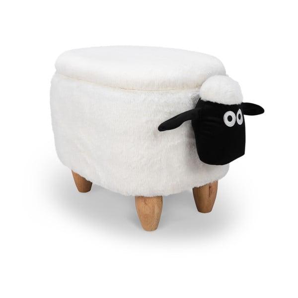 Taburet cu spațiu pentru depozitare KICOTI Sheep