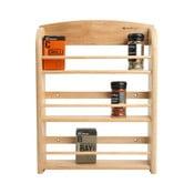 Polička na 18 kořenek ze dřeva kaučukovníku T&G Woodware Scimitar