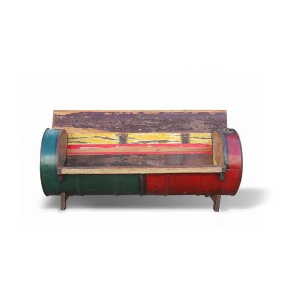 Dřevěná retro pohovka Bidone