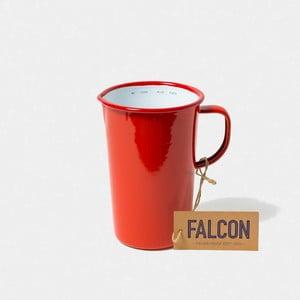 Červený smaltovaný džbán Falcon Enamelware DoublePint, 1,137 l