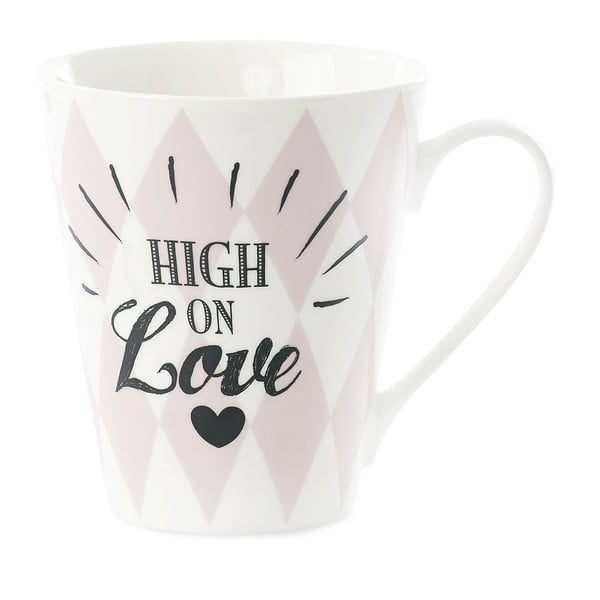 Cană din porțelan Miss Étoile Coffee High on LOve