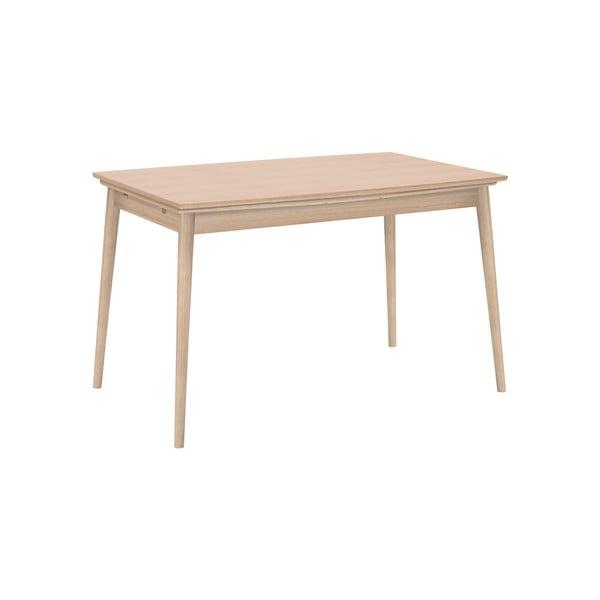 Rozkladací jedálenský stôl s hnedou doskou WOOD AND VISION Curve, 142 × 84 cm