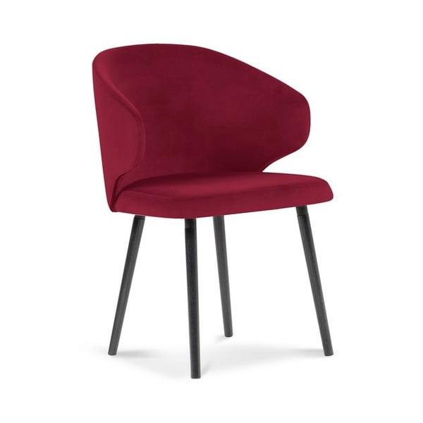 Scaun cu înveliș de catifea Windsor & Co Sofas Nemesis, roșu