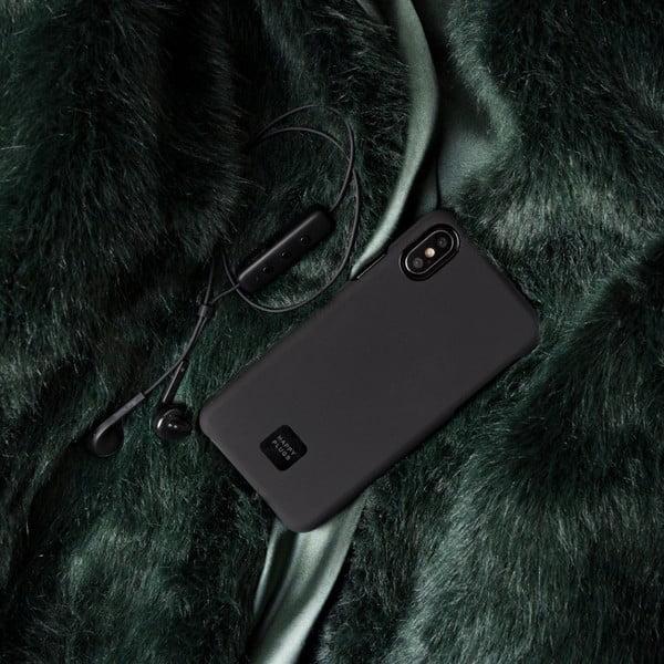 Husă telefon pentru iPhone X și XS Happy Plugs Slim, negru