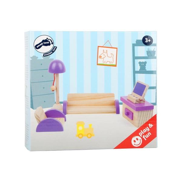 Living Room fa bútorszett játékbabáknak - Legler