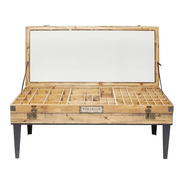 Konferenční stolek ze skla a kovu Kare Design Collector, 122 x 55 cm