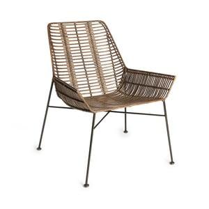 Tmavě hnědá židle s výpletem z ratanu Simla Ratan
