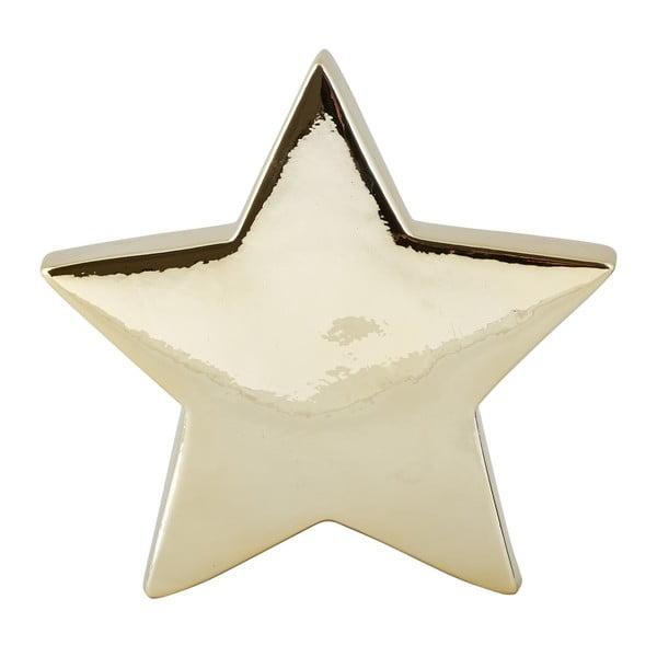 Dekorativní keramická soška ve zlaté barvě KJ Collection Ceramic Star, 19 cm
