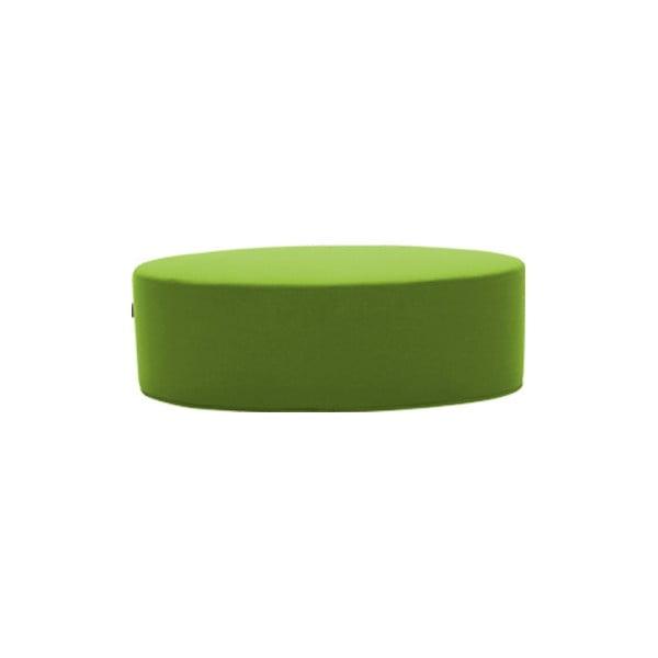 Zelený puf Softline Bon-Bon Felt Melange Green, délka 120 cm