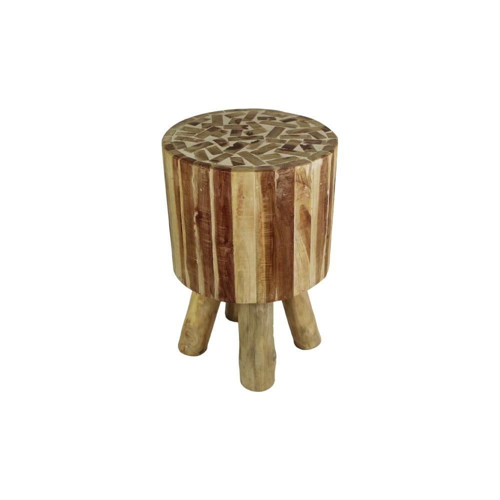 Stolička z teakového dřeva HSM Collection Mozaik