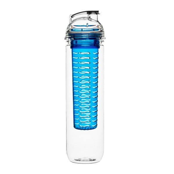 Niebieska butelka z wkładem na owoce Sagaform Fresh, 800ml